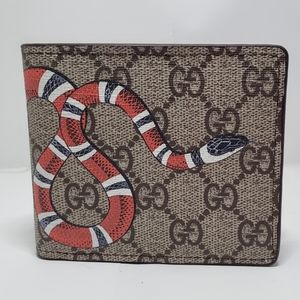 Gucci Brown Snake Wallet